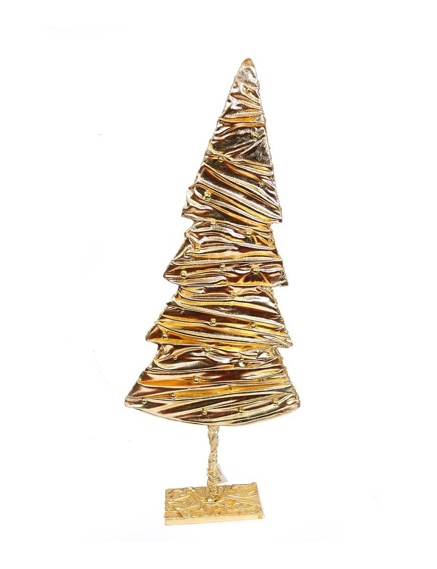arbol navidad tela dorada 90cm - Arbol De Navidad De Tela