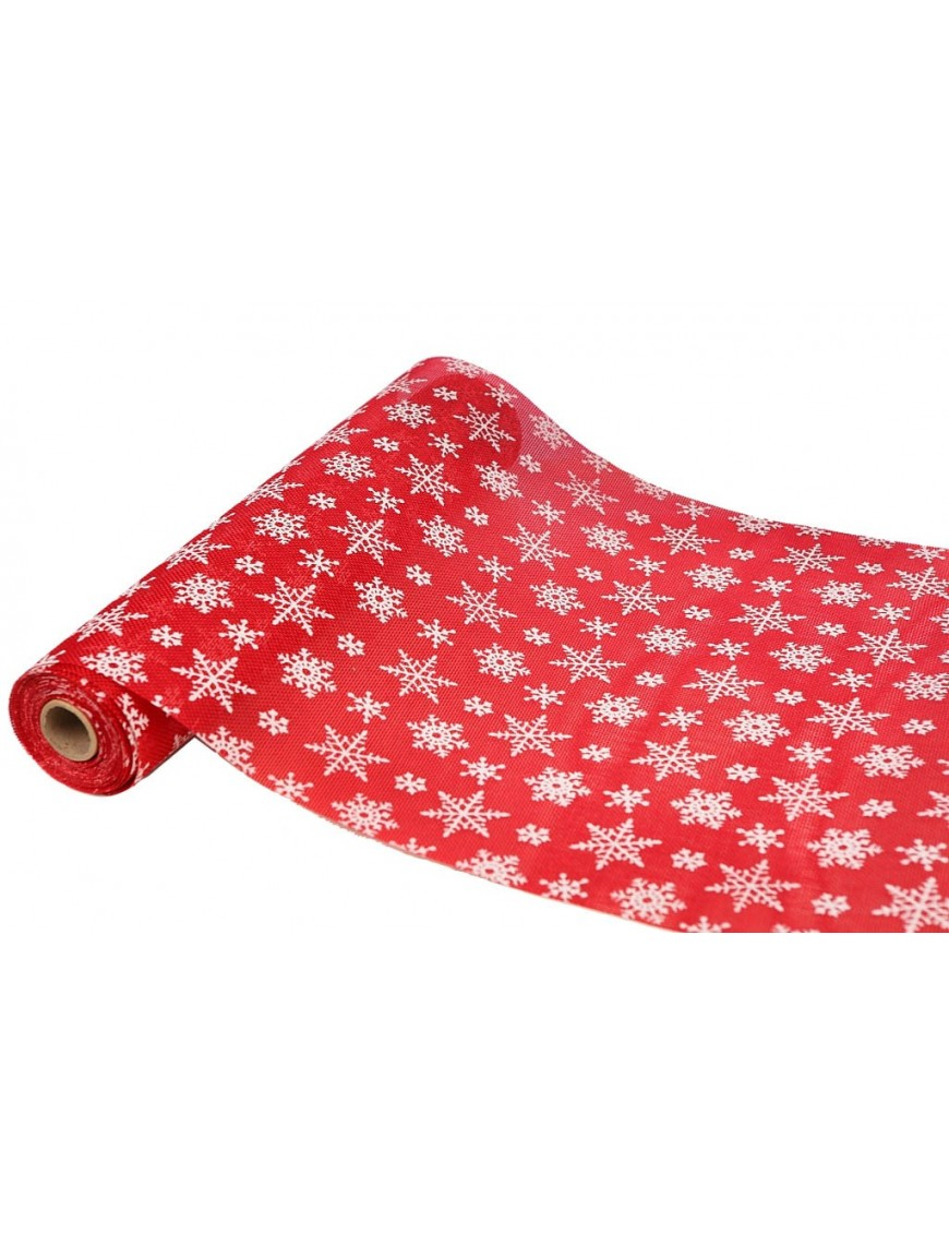 Rollo tela camino de mesa hielo rojo 36cm - Precio rollo tela asfaltica ...