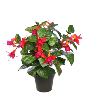 FUCHSIA ARTIFICIAL EN MACETA 35CM
