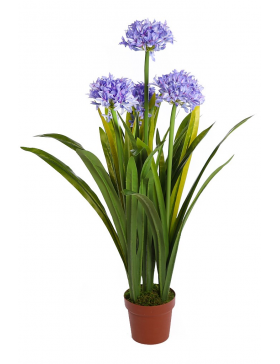 ALLIUM ARTIFICIAL EN MACETA 80CM