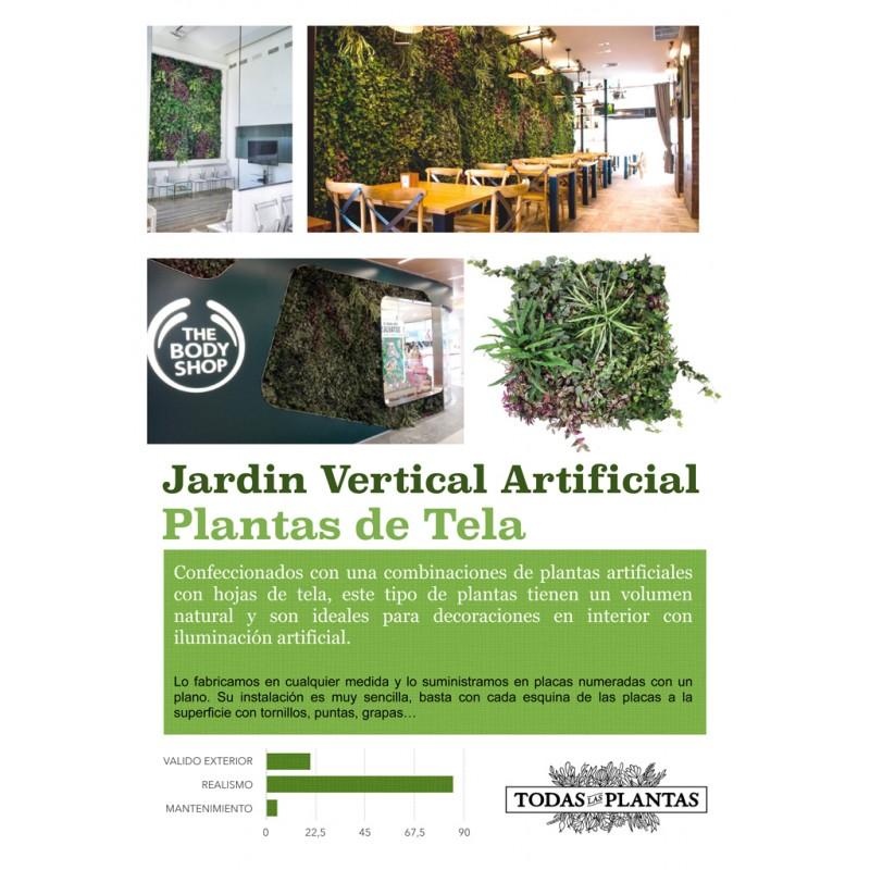 Jardin vertical artificial 100x100cm for Decoracion jardin vertical artificial