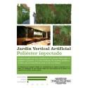 PLACA JARDIN VERTICAL ARTIFICIAL 100X100CM