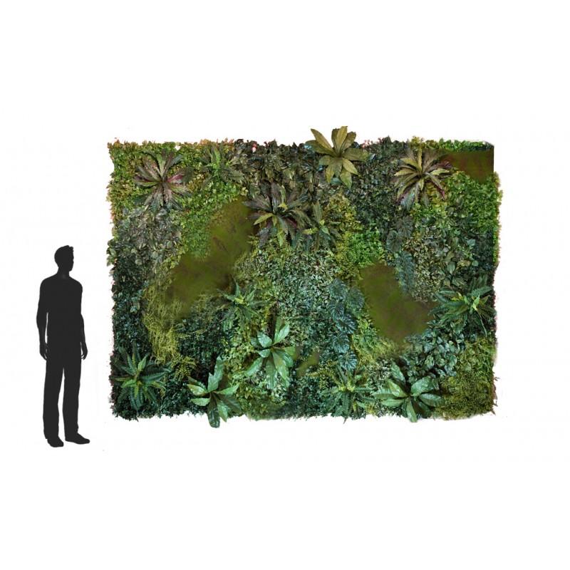Jardin vertical artificial musgo 100x100cm for Decoracion jardin vertical artificial