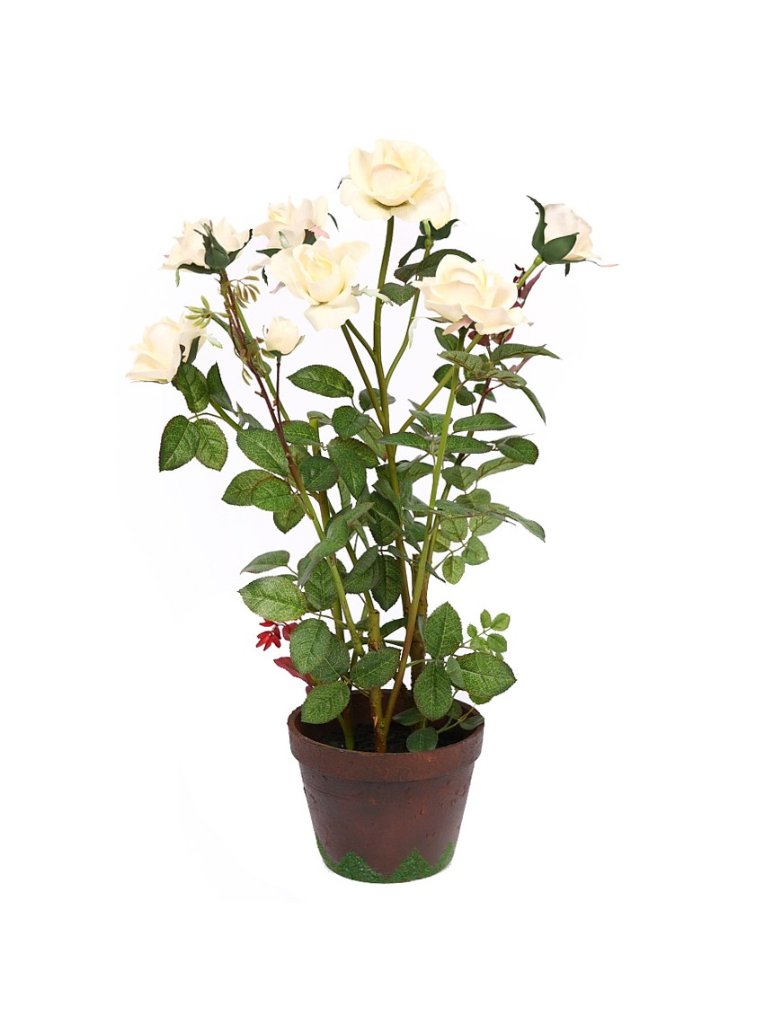 MACETA ROSAL ARTIFICIAL 70CM