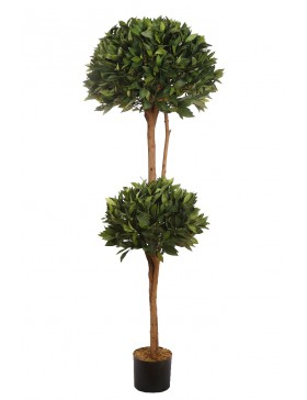 ARBOL DE LAUREL ARTIFICIAL DOBLE BOLA ALT 160CM