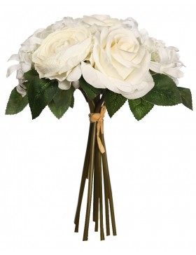 BOUQUET ROSAS ARTIFICIALES 30 CM
