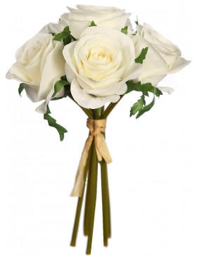 BOUQUET ROSAS ARTIFICIALES 25 CM