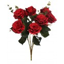 BOUQUET ROSAS ARTIFICIALES 70 CM