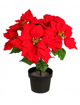 MACETA DE POINSETTIA ARTIFICIAL 48CM
