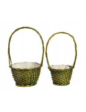 CESTA REDONDA SET 2PCS