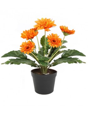MACETA GERBERAS ARTIFICIAL 35CM