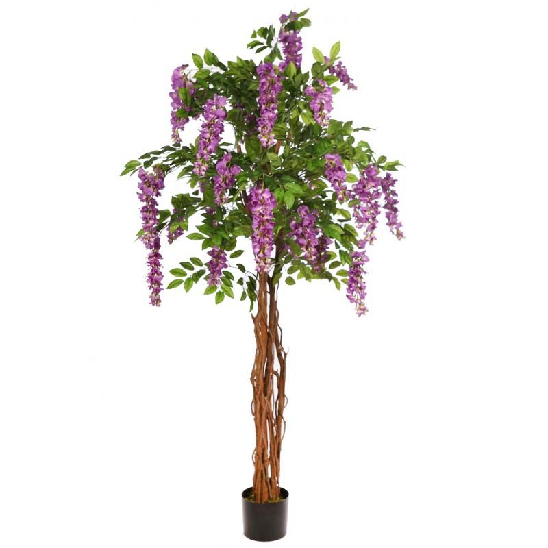 Arbol wisteria artificial en maceta 210cm for Arbol artificial decoracion