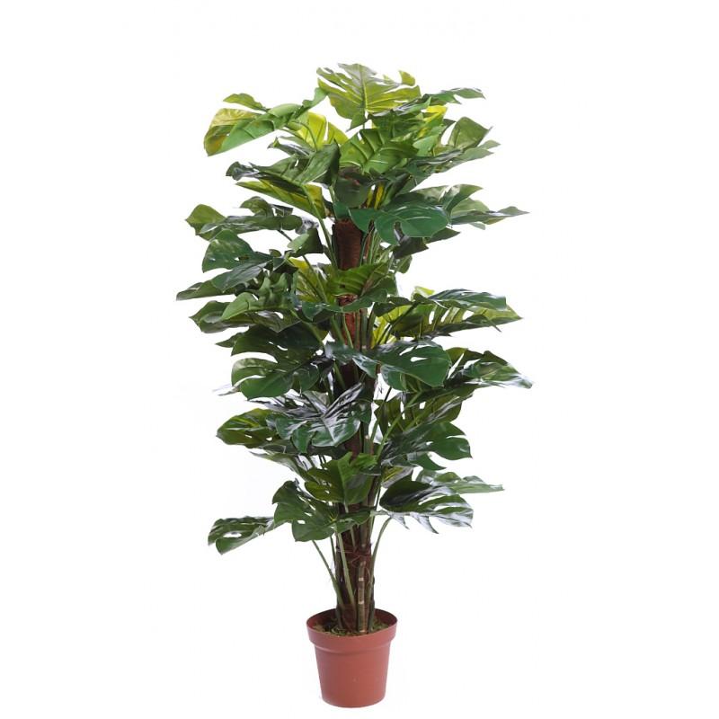 Planta monstera artificial en maceta 150cm - Verdecora macetas ...