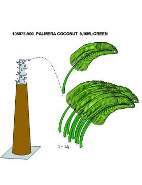 PALMERA COCONUT 510CM