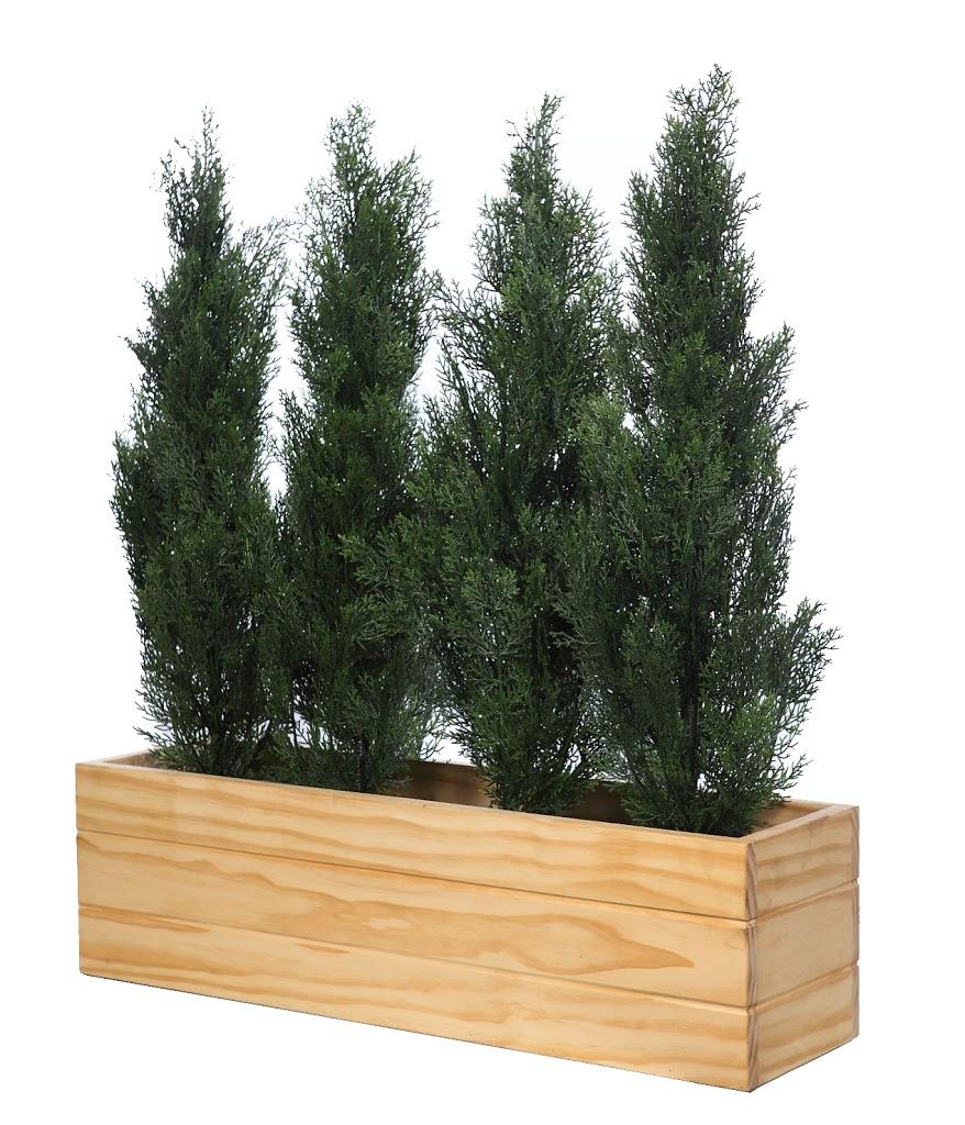 Jardineras seto planta artificial exterior
