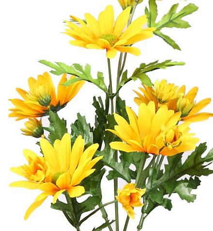Flores artificiales amarillas