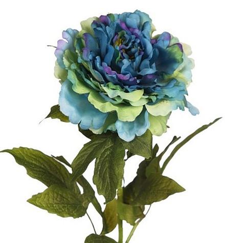 Flores artificiales azules