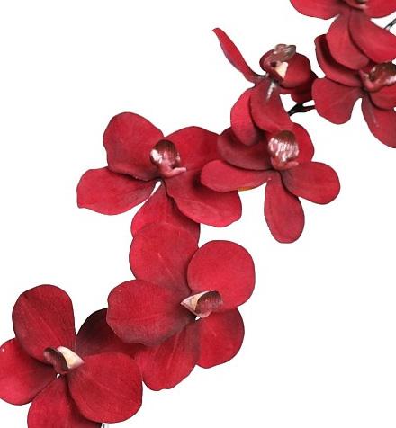 Flores artificiales rojas