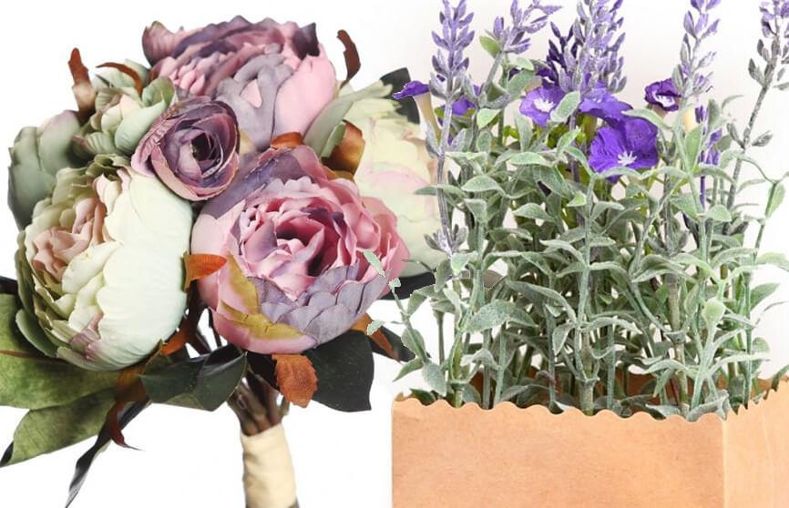 Plantas artificiales para regalo