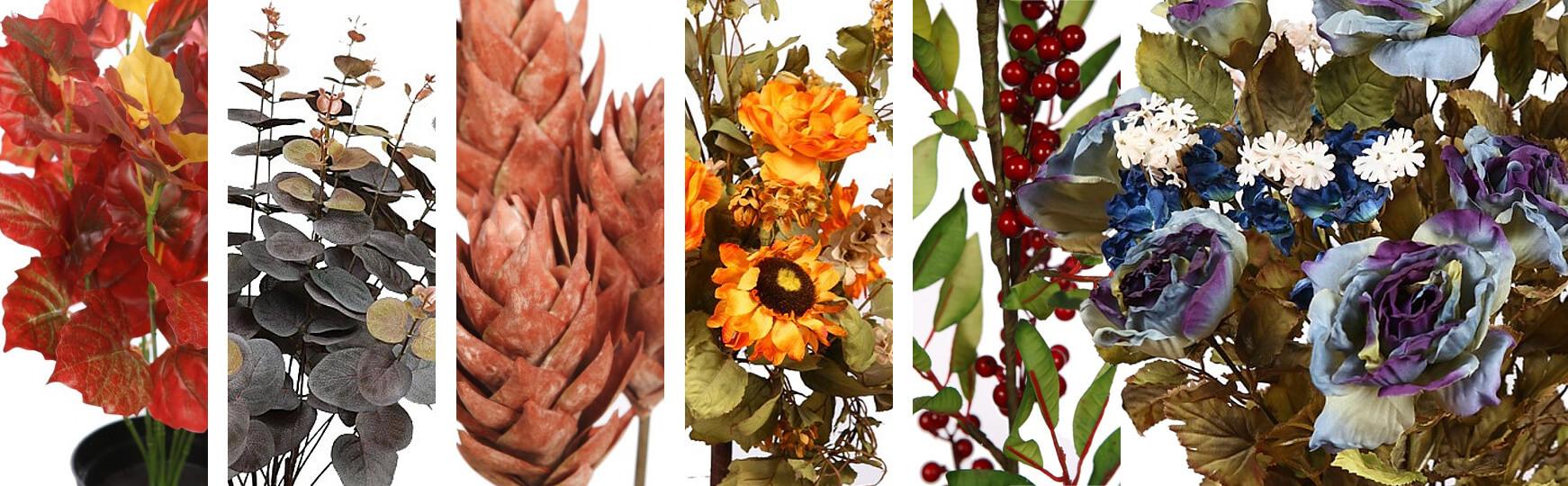 flores artificiales de otoño al mejor precio
