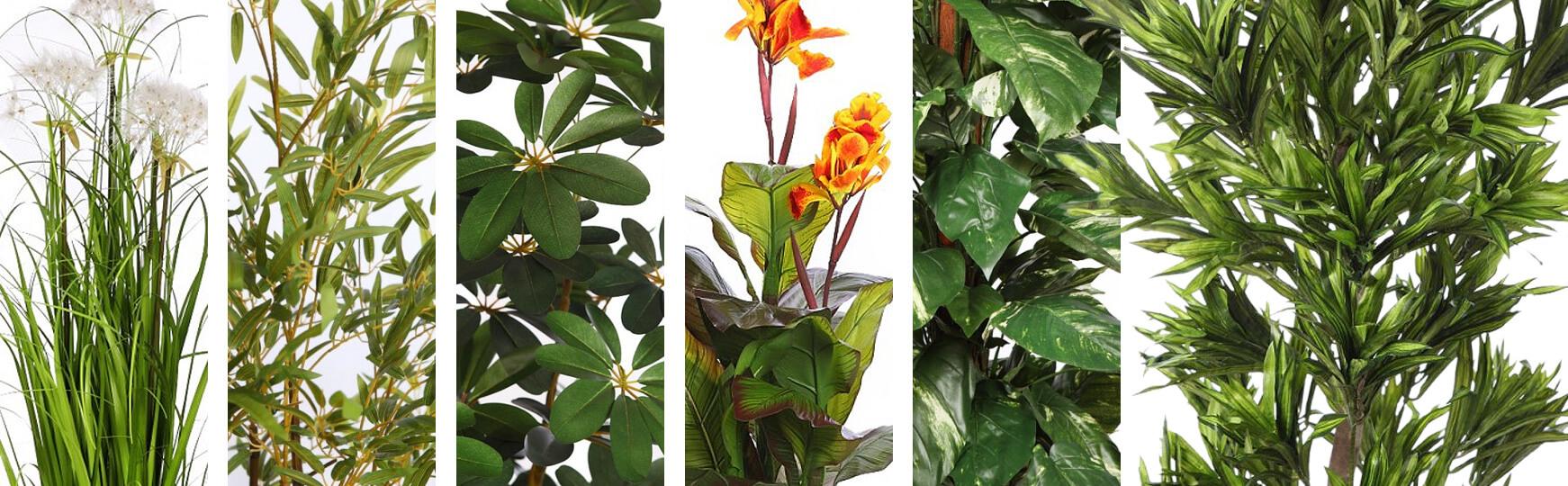 decoración con plantas artificiales en oficinas