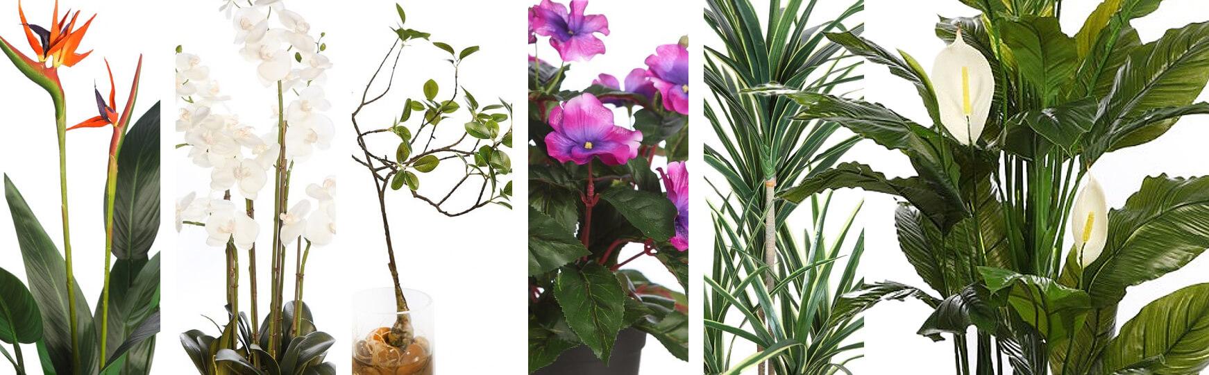 decorar restaurantes con plantas artificiales