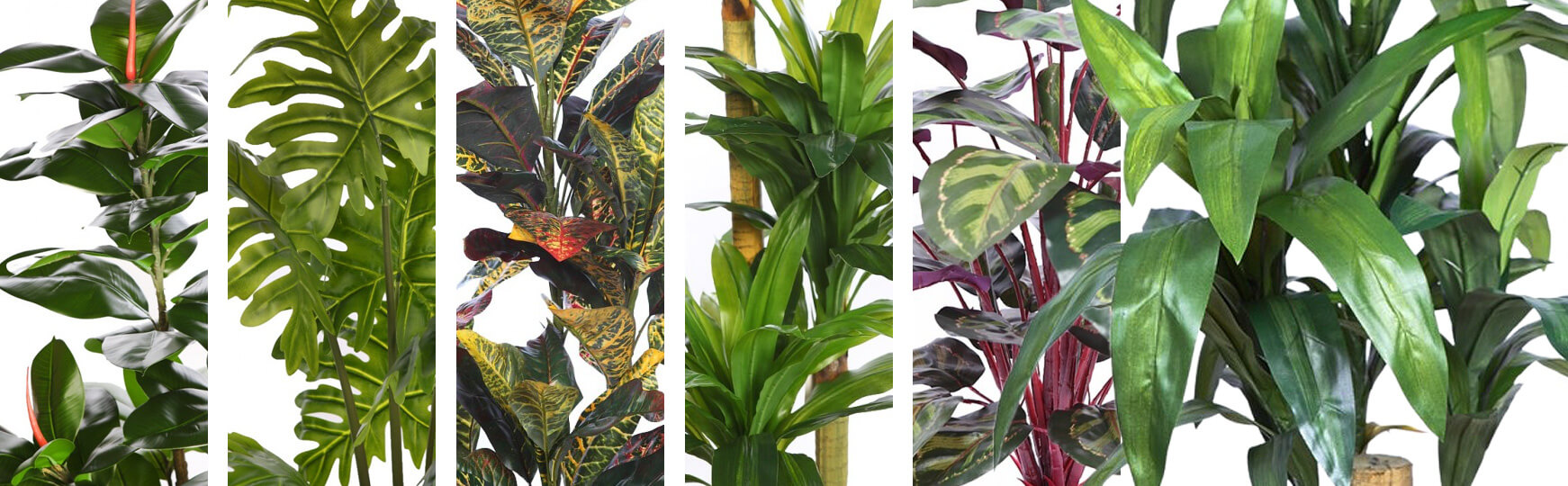 decorar salones con plantas artificiales