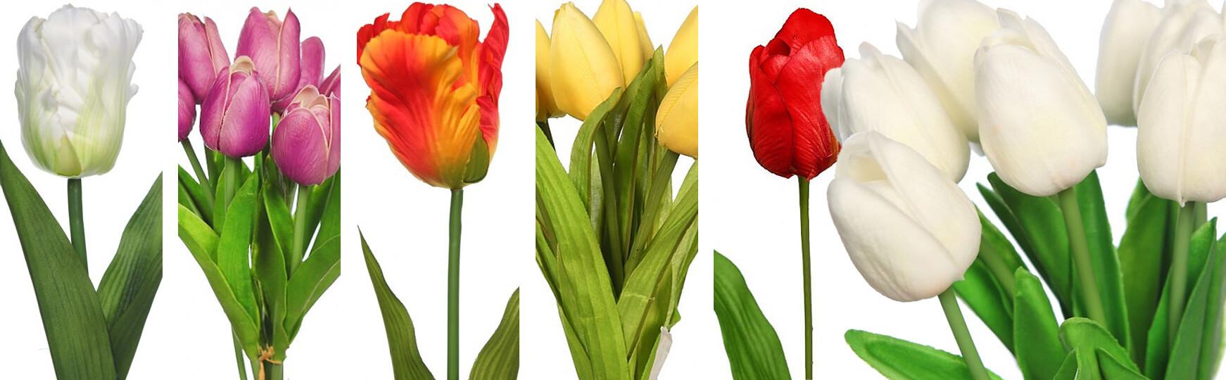 Tulipanes artificiales al mejor precio